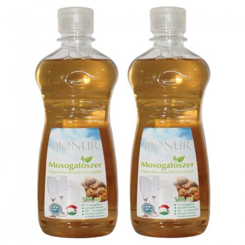 2 бр. Eкологичен препарат за съдове BIONUR със сапунено орехче - 500 ml