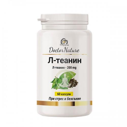 Dr. Nature Л-теанин, 60 капсули-При стрес и нервно напрежение