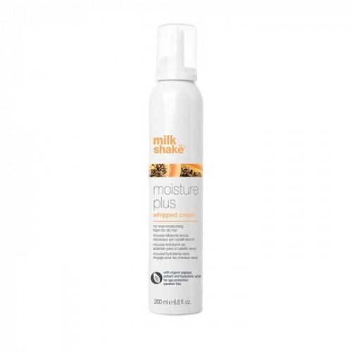 Хидратираща сметана за суха коса без изплакване Milk shake Moisture Plus Whipped Cream 200ml